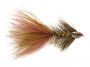 Fulling Mill Streamer - Wooly Bugger grizzly olive-brown