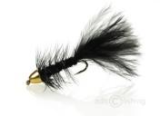 Fulling Mill Streamer - Golden Bullet wooly bug black