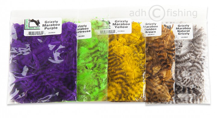 Hareline Grizzly Marabou big pack