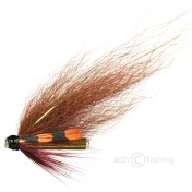 Tube Fly - Premium-quality - Phatagorva Style Wine Red Hackled