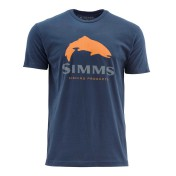 Simms Trout Logo T-Shirt dark moon