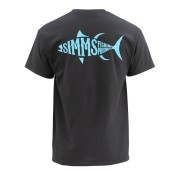 Simms Woodblock Tuna T-Shirt black