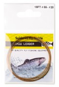 Soldarini Fly Tackle Euro Nymph Camou Leader 15 ft