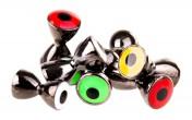 Brass Dumbbells with Eyes in black nickel / T-Eyes