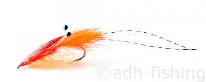 Sea Trout Fly A.Jensen - Agerskov Mallard Shrimp Orange