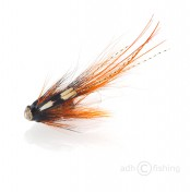 Fulling Mill Tube Fly - Bellied Pig black and orange