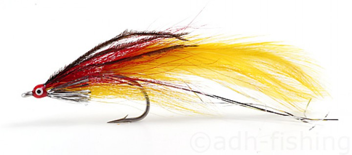 Fulling Mill Streamer - Deceiver red/yellow
