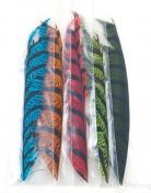 Diamond pheasant tail feather piece