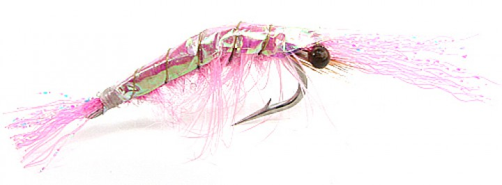 Fulling Mill Sea Trout Fly Flash back Shrimp pink