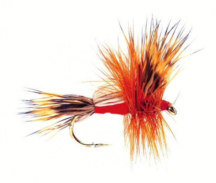 Fulling Mill Dry Fly - Humpy Red