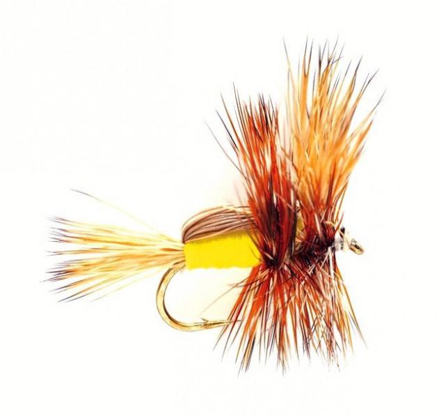 Fulling Mill Trockenfliege - Humpy Yellow