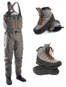 Guideline Laxa Wading Set Waders and Boots (Felt or Rubber + Spikes)