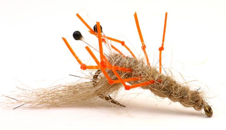 Sea Trout Fly Honey Shrimp Hot Leg