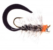Pacchiarini's Wiggle Tail Wooly Bugger grizzly black