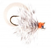 Pacchiarini's Wiggle Tail Wooly Bugger grizzly white
