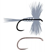 Tunca Expert Fly Hook TE15 Wide Gape Dry Fly Barbless