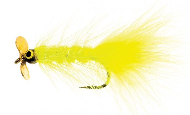 Dog Nobbler Propeller fluo yellow