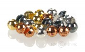 Tungsten slotted Faceted Beads by Renate Wurm