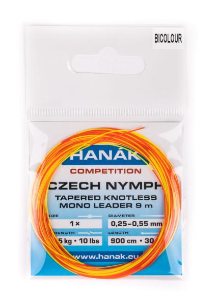 Hanak Czech Nymph Leader Bicolour 9,0m