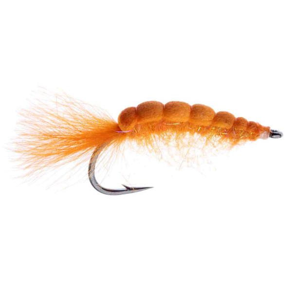 Kami Flies Sea Trout Fly - Foam Scud orange