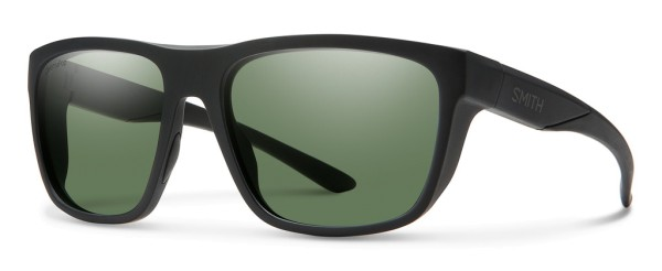 Smith Optics Polarized Glasses Barra CP (ChromaPop) Matte Black (Polar Gray Green)