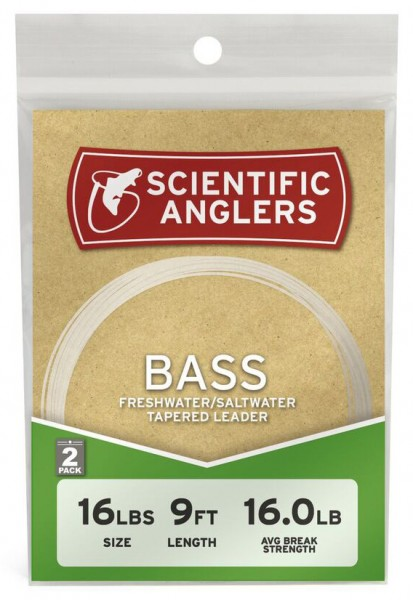 2-2 packs Details about  /Scientific Anglers Bass Tapered Leader