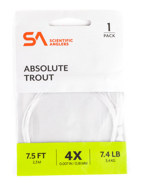 Scientific Anglers Absolute Trout Leader 7,5ft.