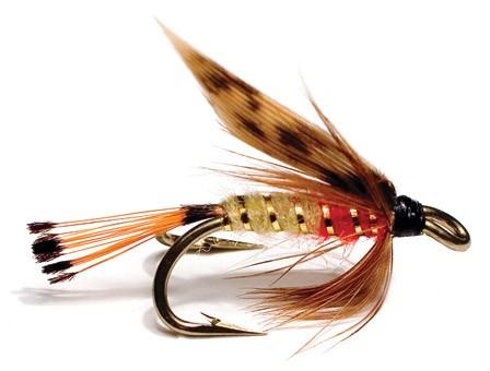 Unique Flies Double Hook Wet Fly - Olsen Red Cream