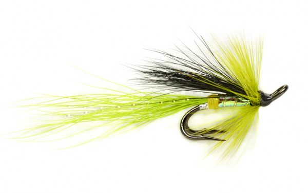 Fulling Mill Salmon Fly - Chartreuse Cascade Micro Double