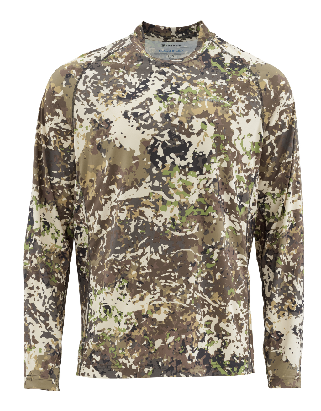 344302b3 Simms Solarflex LS Crew Graphic Prints Shirt river camo | Longsleeves |  Shirts and Pullovers | Clothing | adh-fishing
