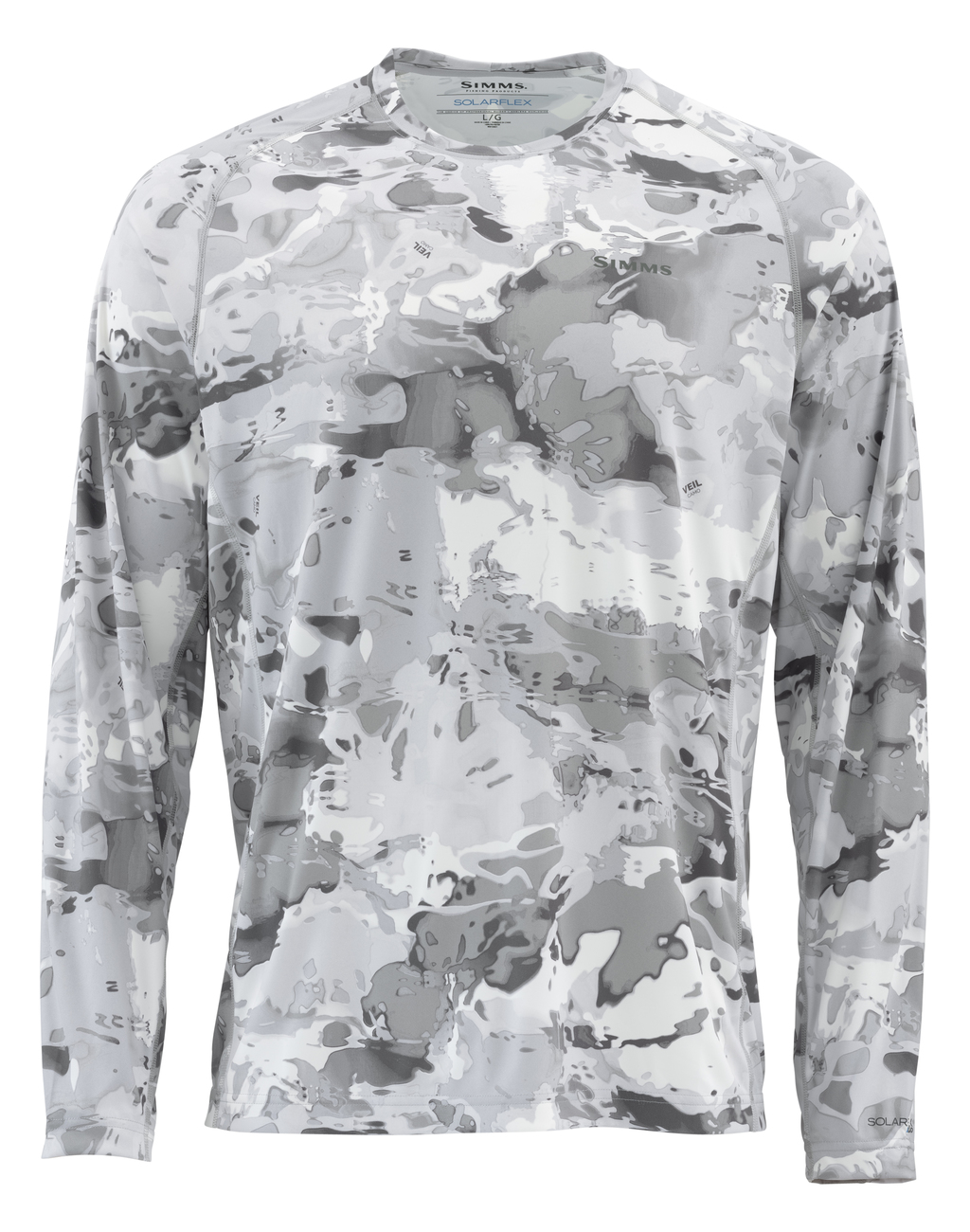 a05eea6e Simms Solarflex LS Crew Graphic Prints Shirt cloud camo grey | Longsleeves  | Shirts and Pullovers | Clothing | adh-fishing