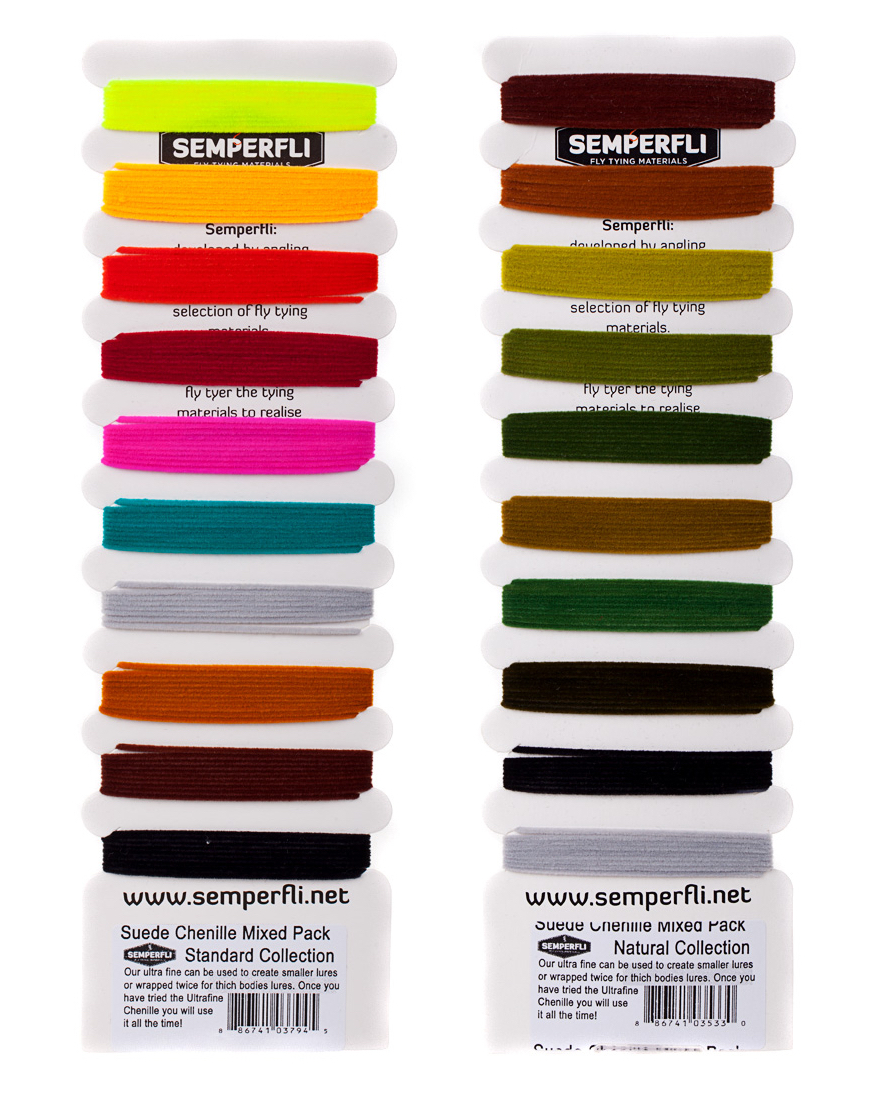 Semperfli Suede Chenille Mixed Pack Steelhead Collection Semperfli is back!