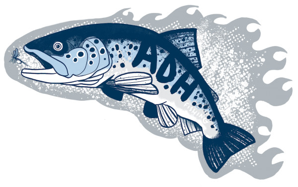 adh-fishing Trout Sticker