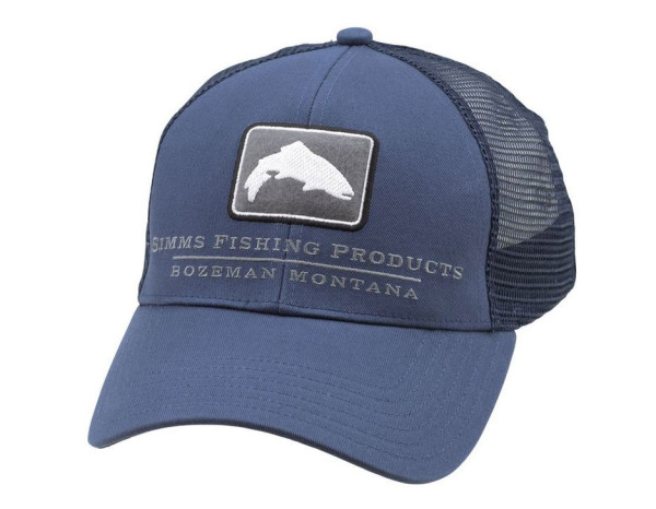Simms Trout Icon Small Fit Trucker Cap dark moon