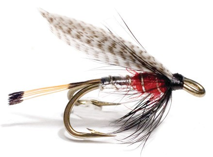 Unique Flies Double Hook Wet Fly - Peter Ross Silver Red