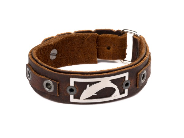 Sight Line Provisions Freshwater Collection - Trout Leather Cuff brown Trout (Rustic Brown)