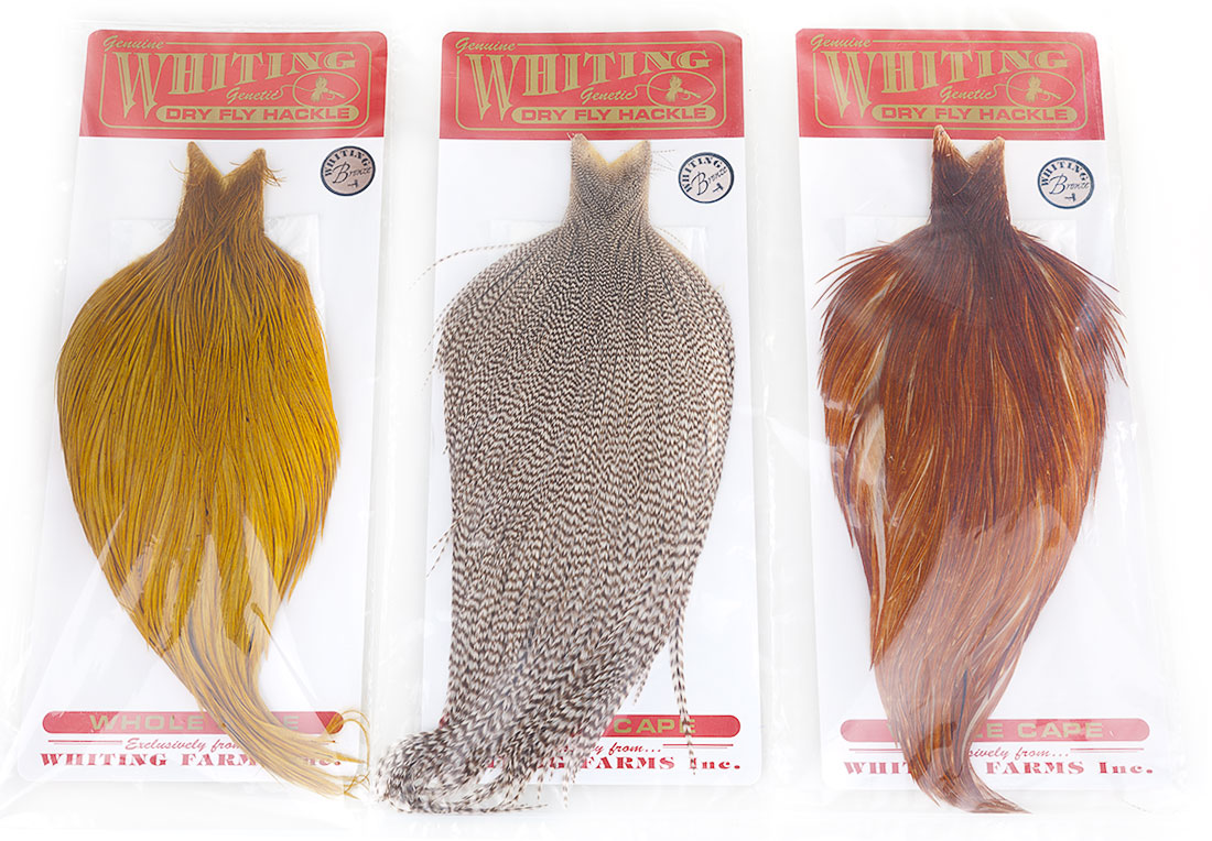 Whiting Dry Fly Hackle Capes Bronze Full or Half | Capes and Saddles