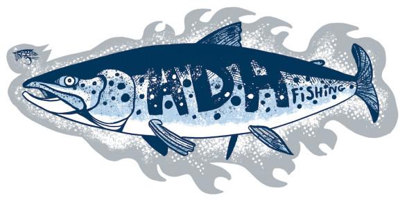 adh-fishing Salmon Sticker