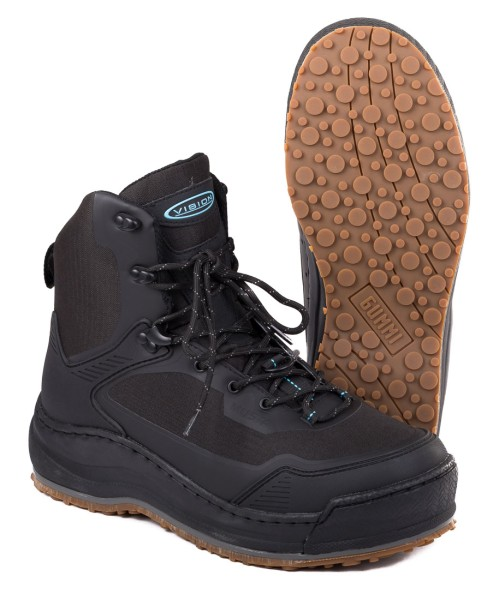 Vision Musta Wading Boot with Rubber Sole