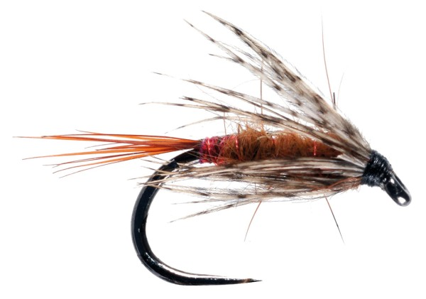 Soldarini Fly Tackle Wet Fly - Red Arsed Rusty Brown
