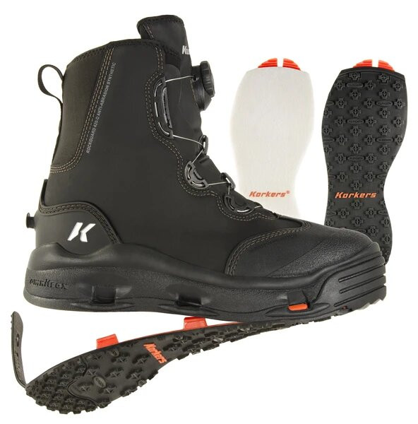 Korkers Devils Canyon Wading Boot incl. interchangeable soles Interchangeable soles